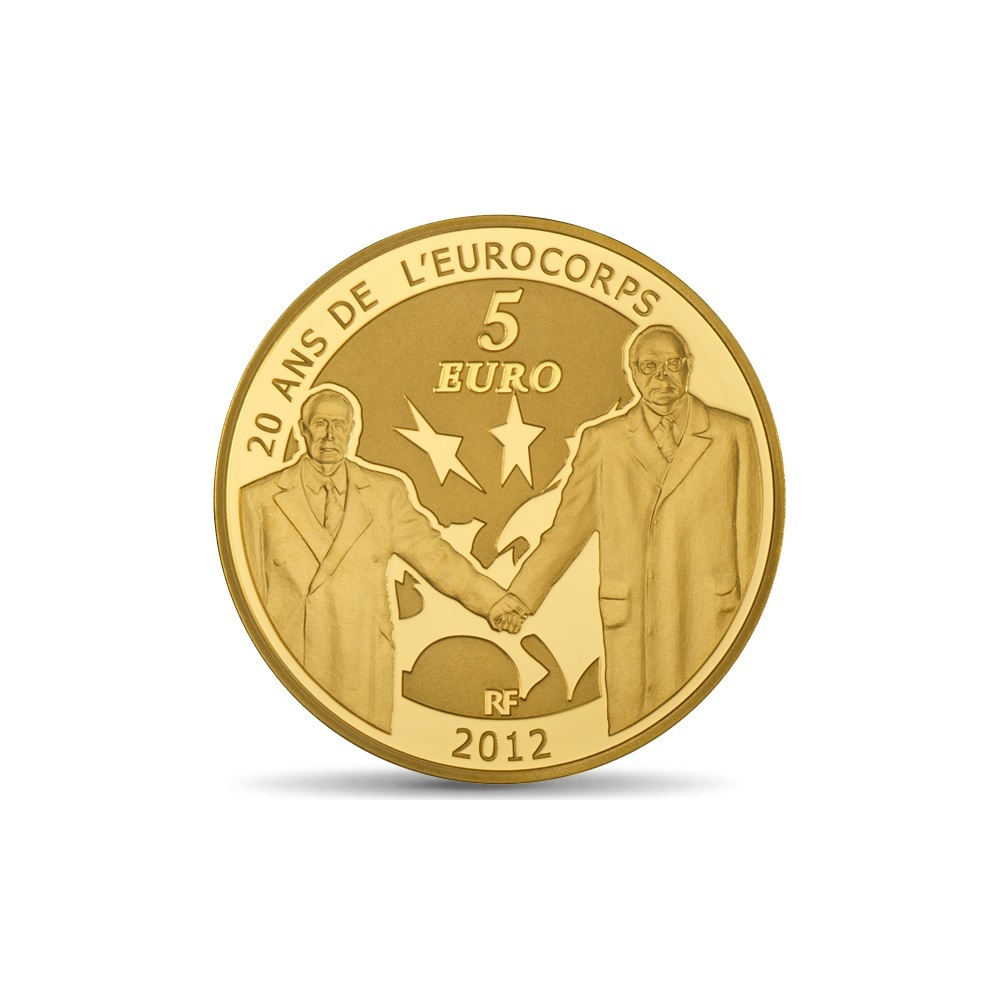 (EUR07.ComBU&BE.2012.10041275050000) 5 euro France 2012 Proof Au - Europa Reverse (zoom)
