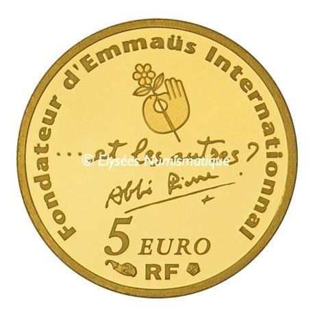 (EUR07.ComBU&BE.2012.10041275210000) 5 euro France 2012 Au BE - Abbé Pierre Revers