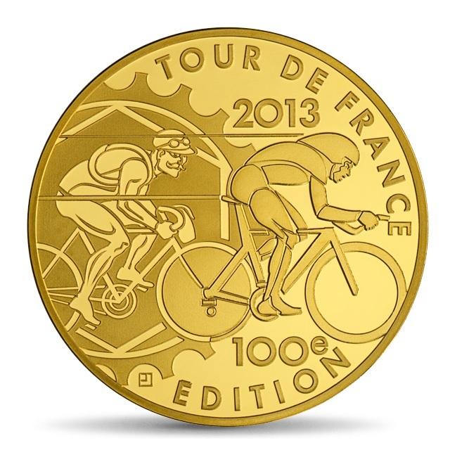 (EUR07.ComBU&BE.2013.5000.BE.10041281810000) 50 euro France 2013 Proof gold - Tour de France Reverse (zoom)