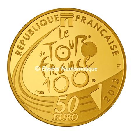 (EUR07.ComBU&BE.2013.5000.BE.10041281810000) 50 euro France 2013 or BE - Tour de France Avers