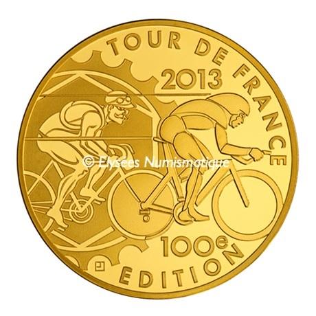 (EUR07.ComBU&BE.2013.5000.BE.10041281810000) 50 euro France 2013 or BE - Tour de France Revers