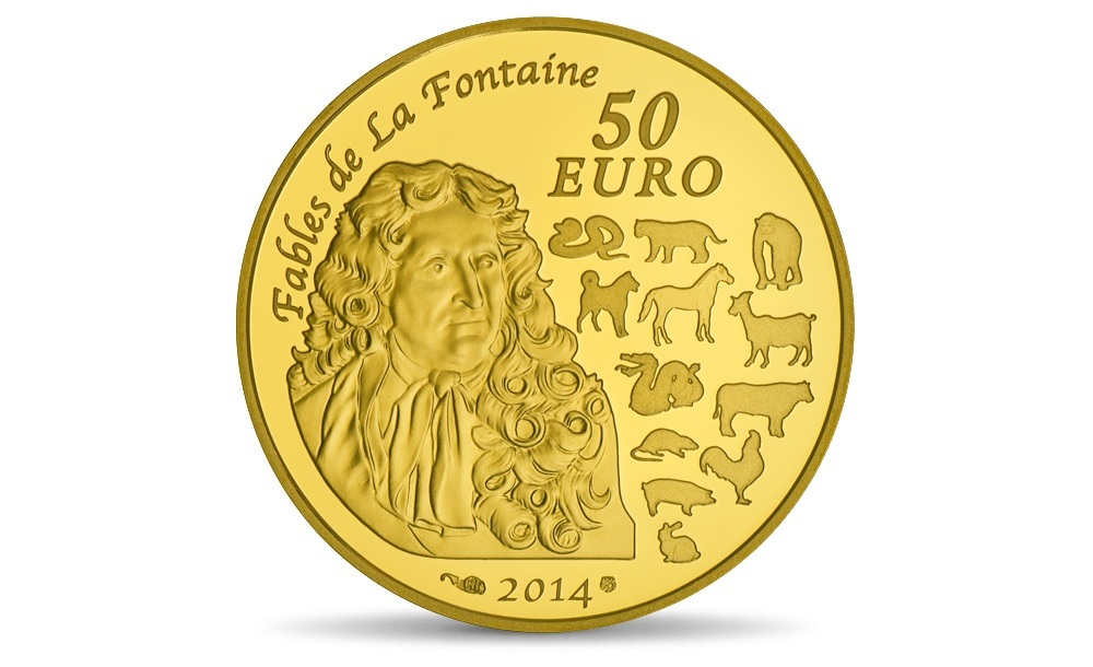 (EUR07.ComBU&BE.2014.10041282380000) 50 euro France 2014 Proof gold - Year of the Horse Reverse (zoom)