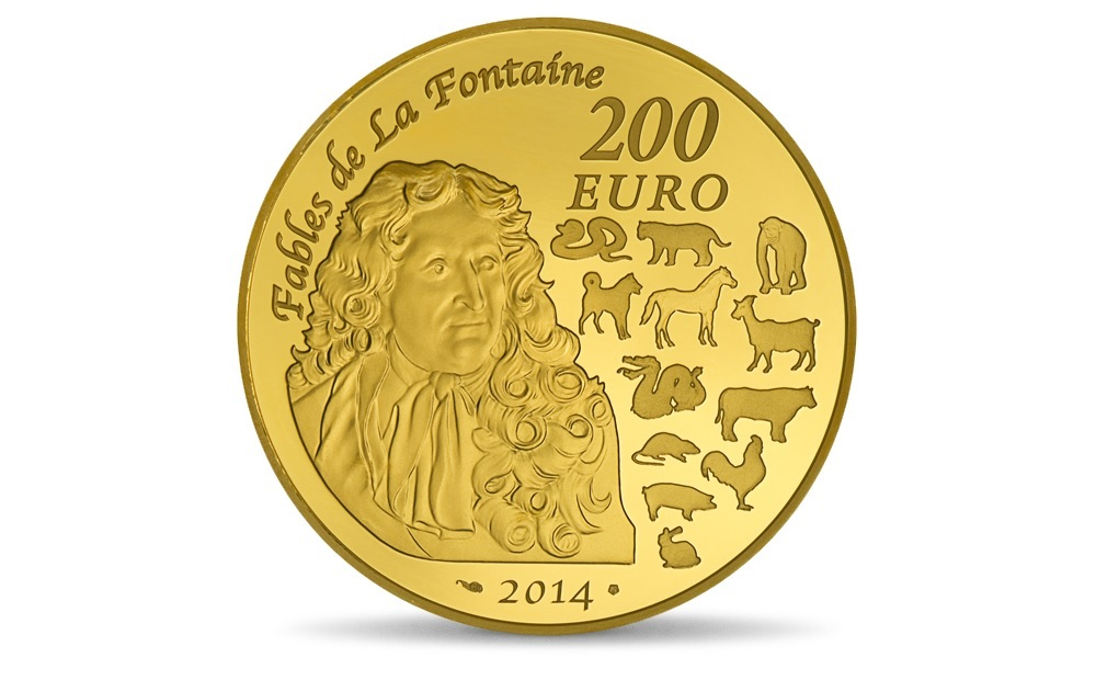 (EUR07.ComBU&BE.2014.10041285790000) 200 euro France 2014 Proof gold - Year of the Horse Reverse (zoom)