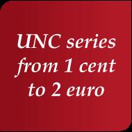 Séries UNC 1 cent à 2 euro
