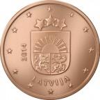 1 cent Lettonie 2014 Avers