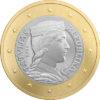 1 euro Lettonie 2014 Avers