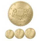 10, 20 et 50 cent Lettonie 2014