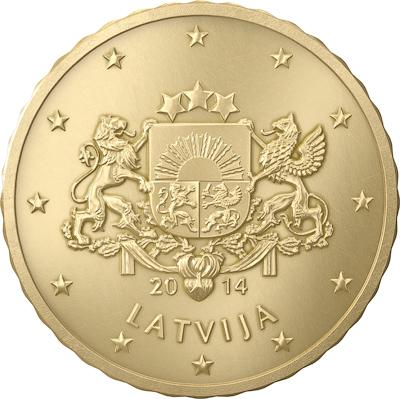 10 cent Lettonie 2014 Avers