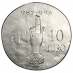 10 euro France 2012 argent BE - Hugues Capet Revers