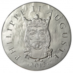 10 euro France 2012 argent BE - Philippe II Auguste Avers