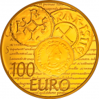 100 euro France 2014 or BE - Semeuse Revers