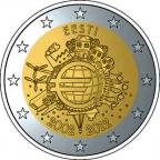 2 euro commémorative Estonie 2012 - 10 ans de l'euro fiduciaire