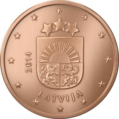 2 Euro Lettonie 2014