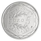 5 euro France 2013 argent - Egalité Revers