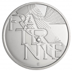 5 euro France 2013 argent - Fraternité Avers