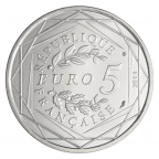5 euro France 2013 argent - Fraternité Revers