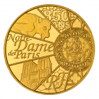 5 euro France 2013 or BE - Notre-Dame de Paris Avers