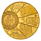 5 euro France 2013 or BE - Notre-Dame de Paris Revers