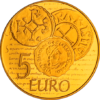 5 euro France 2014 or BE - Semeuse Revers