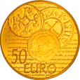 50 euro France 2014 or BE - Semeuse Revers
