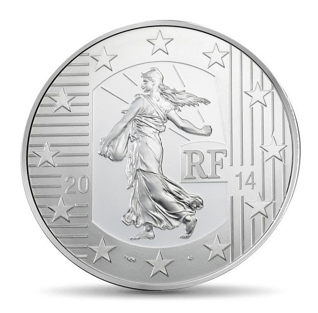 (EUR07.ComBU&BE.2014.1000.BE.10041286370000) 10 euro France 2014 Proof silver - Sower Obverse (zoom)