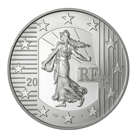 (EUR07.ComBU&BE.2014.1000.BE.10041286370000) 10 euro France 2014 argent BE - Semeuse Avers