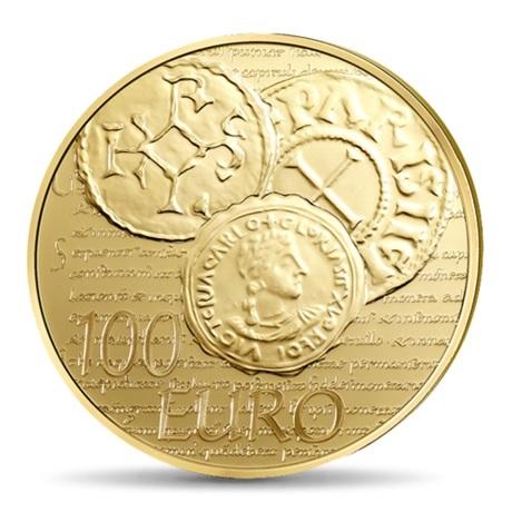 (EUR07.ComBU&BE.2014.10041286340000) 100 euro France 2014 Au BE - Semeuse Revers