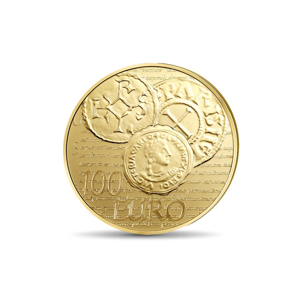 (EUR07.ComBU&BE.2014.10041286340000) 100 euro France 2014 Proof gold - Sower Reverse (zoom)