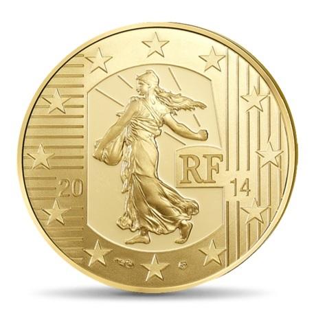 (EUR07.ComBU&BE.2014.10041286350000) 50 euro France 2014 Au BE - Semeuse Avers