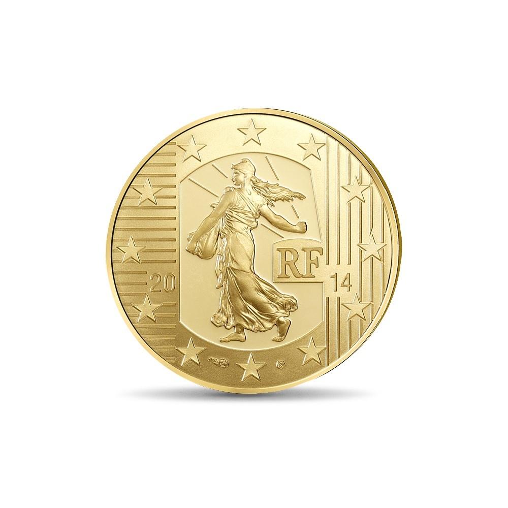 (EUR07.ComBU&BE.2014.10041286350000) 50 euro France 2014 Proof gold - Sower Obverse (zoom)