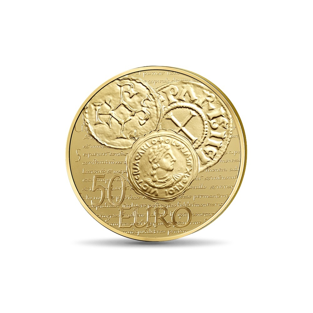 (EUR07.ComBU&BE.2014.10041286350000) 50 euro France 2014 Proof gold - Sower Reverse (zoom)