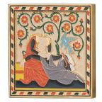 Médaille bronze doré et émaillé - Amour courtois Avers