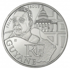 10 euro France 2012 argent - Région Guyane Avers