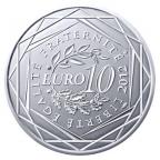 10 euro France 2012 argent - Région Guyane Revers