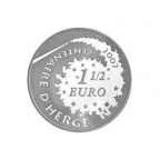 1,5 euro France 2007 argent BE - Tintin et Tournesol Revers
