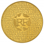 200 euro France 2012 or BU - Régions Avers