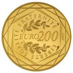 200 euro France 2012 or BU - Régions Revers