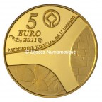 5 euro France 2011 or BE - Château de Versailles Revers
