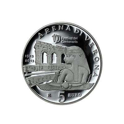 5 euro Saint-Marin 2013 argent BE - Arène de Vérone Revers