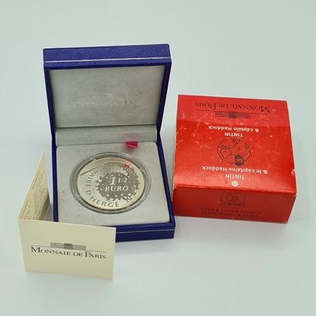 (EUR07.ComBU&BE.2007.10041245910000.000000001) 1,5 euro France 2007 argent BE - Tintin et Haddock Avers