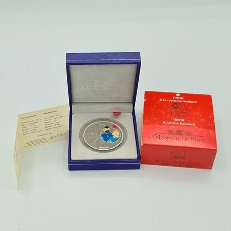 (EUR07.ComBU&BE.2007.10041245910000.000000001) 1,5 euro France 2007 argent BE - Tintin et Haddock Revers