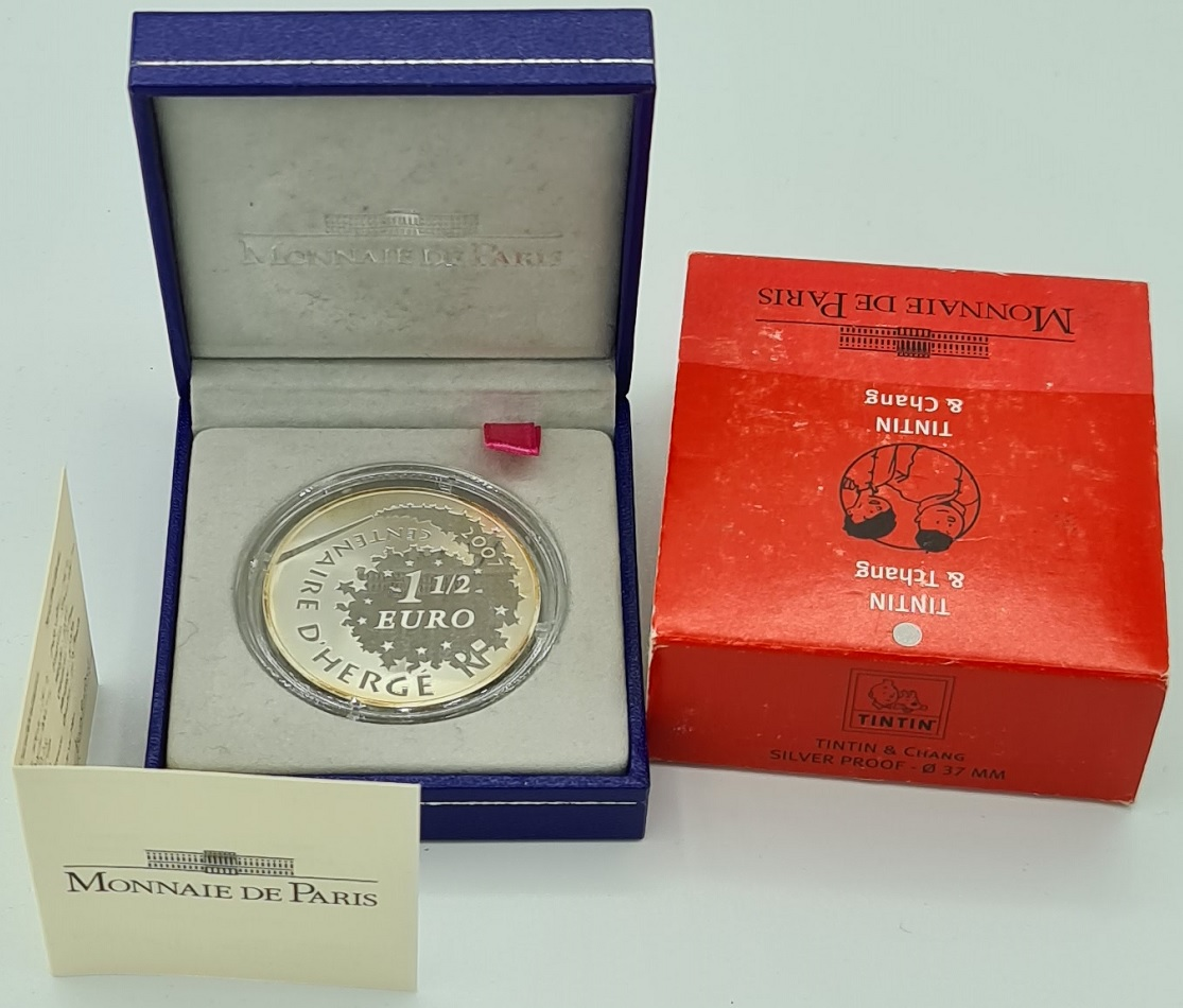 (EUR07.ComBU&BE.2007.10041245920000.000000001) 1.5 € France 2007 Proof Ag - Tintin & Chang Obverse (zoom)