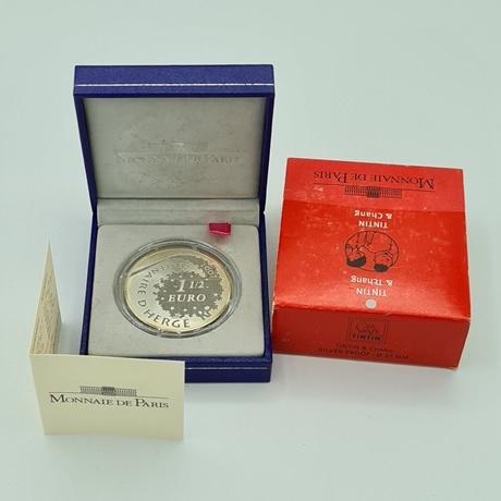 (EUR07.ComBU&BE.2007.10041245920000.000000001) 1,5 euro France 2007 argent BE - Tintin et Tchang Avers