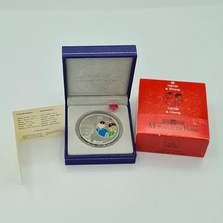(EUR07.ComBU&BE.2007.10041245920000.000000001) 1,5 euro France 2007 argent BE - Tintin et Tchang Revers