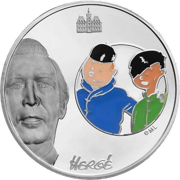 (EUR07.ComBU&BE.2007.150.BE.COM1) 1.5 euro France 2007 Proof silver - Tintin & Chang Reverse (zoom)