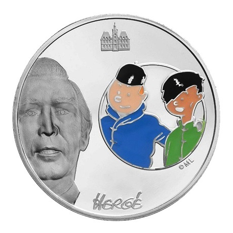 (EUR07.ComBU&BE.2007.150.BE.COM1) 1,5 euro France 2007 argent BE - Tintin et Tchang Revers
