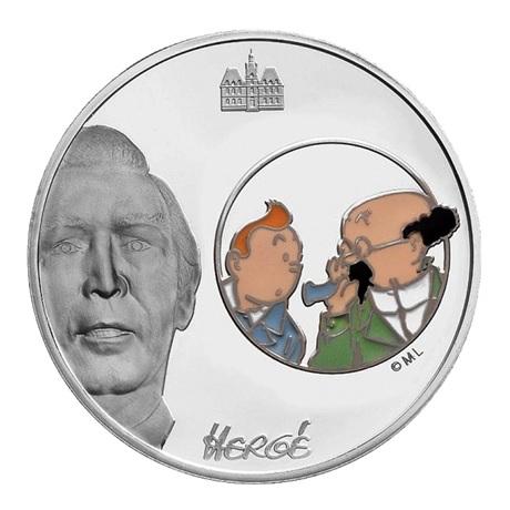 (EUR07.ComBU&BE.2007.150.BE.COM2) 1,5 euro France 2007 argent BE - Tintin et Tournesol Revers