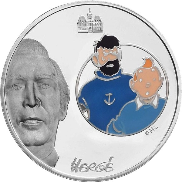 (EUR07.ComBU&BE.2007.150.BE.COM3) 1.5 euro France 2007 Proof silver - Tintin & Haddock Reverse (zoom)