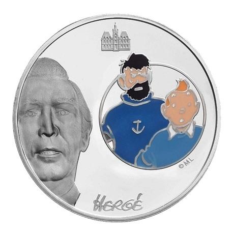 (EUR07.ComBU&BE.2007.150.BE.COM3) 1,5 euro France 2007 argent BE - Tintin et Haddock Revers