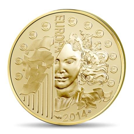 (EUR07.ComBU&BE.2014.10041286450000) 50 euro France 2014 Au BE - Europa Avers